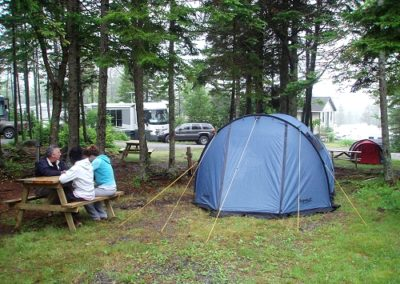 Unserviced tenting sites available...